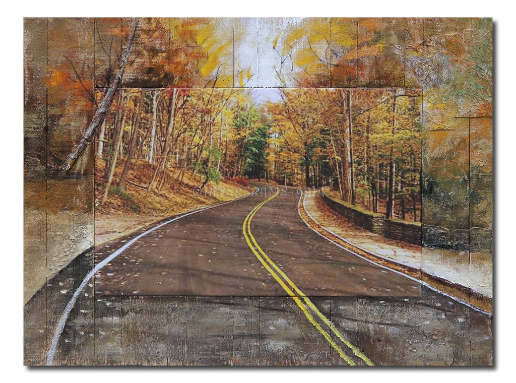 """Golden Tree Road "" - Painting On Canvas at INTERFRAME ASIA by Interframe-Asia"