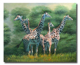 Giraffe Family - Painting On Canvas at INTERFRAME-ASIA