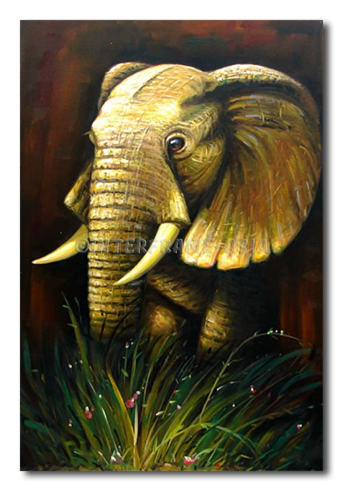Mighty Elephant II - Painting On Canvas at INTERFRAME-ASIA