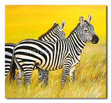 Young Zebras - Painting On Canvas at INTERFRAME-ASIA