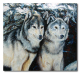 White Wolves - Painting On Canvas at INTERFRAME-ASIA