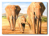 ElEPHANT Family - Painting On Canvas at INTERFRAME-ASIA