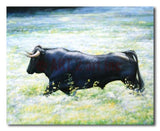 Bull on the wild - Painting On Canvas at INTERFRAME-ASIA