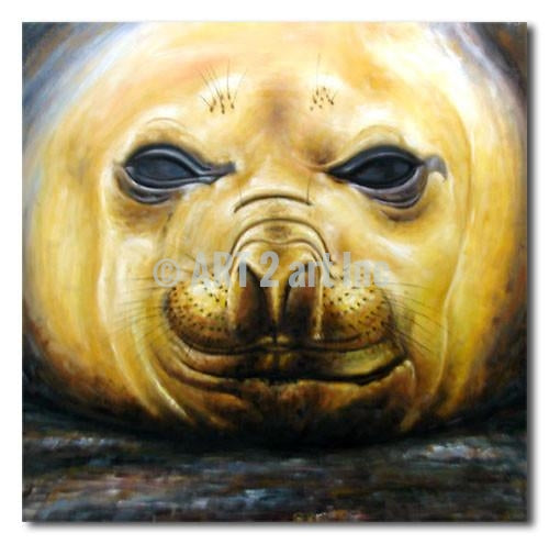 BABY SEAL - Painting On Canvas at INTERFRAME-ASIA