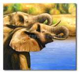 Shoating Elephants - Painting On Canvas at INTERFRAME-ASIA