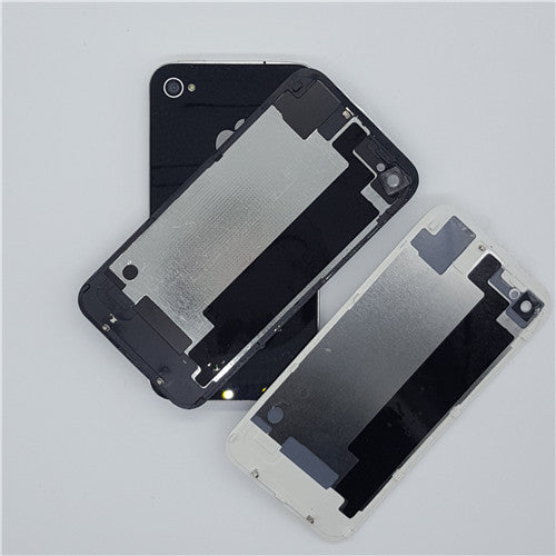 10pcs/lot High Quality Battery Door for iPhone 4 4S Back Housing Rear Cover Glass Case Repair Parts Wholesale White/Black