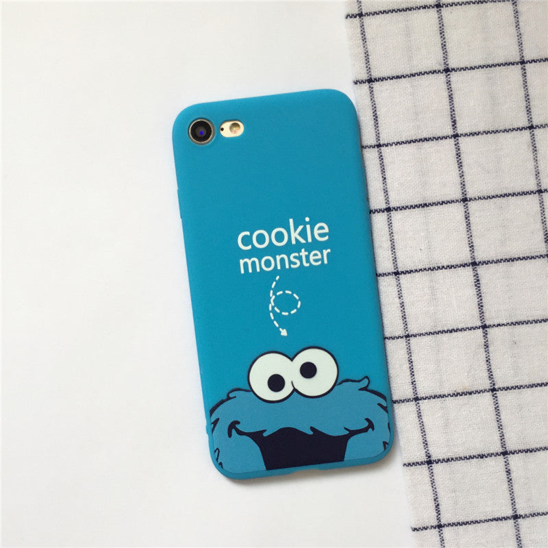 2017 Fashion Coque Cute Cartoon Cookie Monster Elmo Phone Cover Case For IPhone 5 5S SE