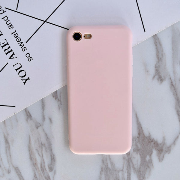 2017 Hot Simple Pure Pink Black Only Dream Adventures Broken soft Case For iphone 6 6s Plus 7 8 Plus X 5S SE Cover Funda Coque