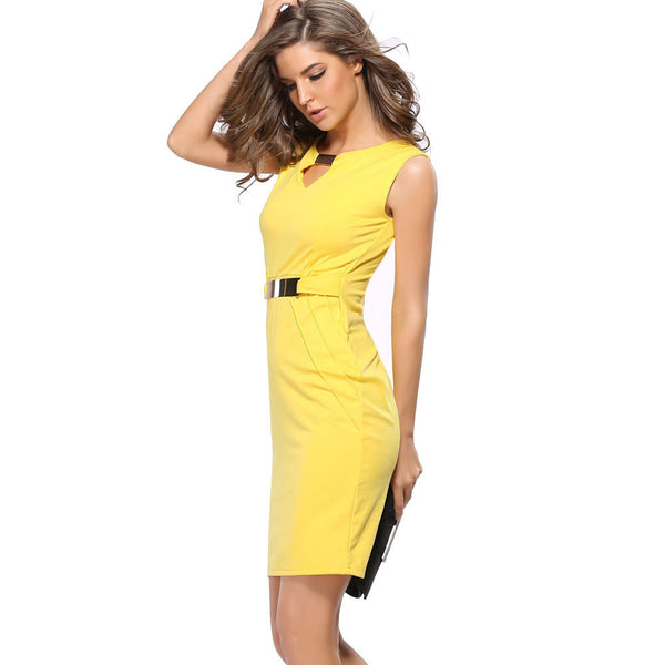 2017 Summer New Dress Plus Size Maxi Bodycon Dress Women Sleeveless Office Pencil Dresses vestido de festa
