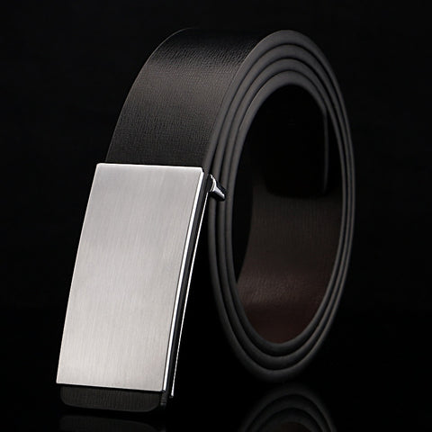 2018 New 100% cowhide genuine leather belts for men Strap male Smooth buckle vintage jeans cowboy Casual designer brand belt