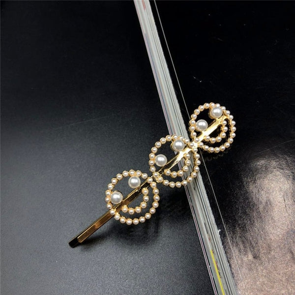 2019 Chic Women Pearl Letters Hawaii Hairpins Korean Hair Accessories Letter Pearls Barrettes