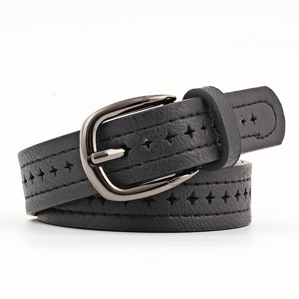 2019 Good Women Belts PU Leather Pin Buckle Vintage Style Top Quality Newest Luxury Female Strap Original