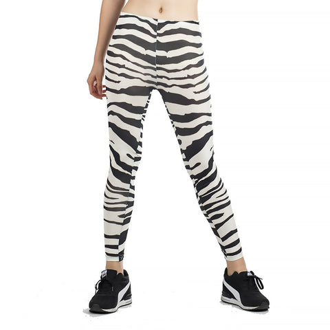 2019 Korean Fashion Zebra Pattern Women Leggings Seamless Jeans Leggings Stripe Printed Imitate Sexy Leggings