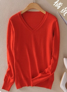 2019 Round Neck Cashmere Sweater Solid Color Pullover Woman Knitting Sweater Plus Size Female Jumpers