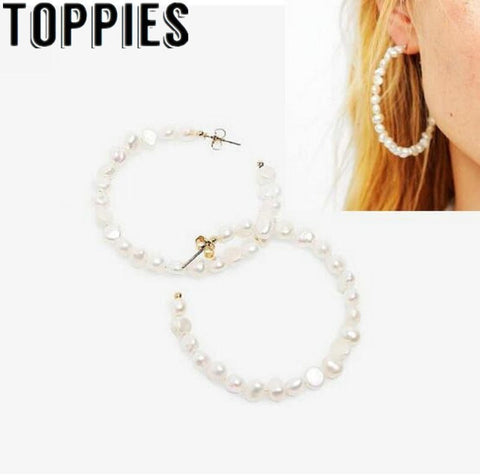 2019 Summer Trendy Women Pearl Necklace Earrings Set Bohemian Beach Style Women Jewelry