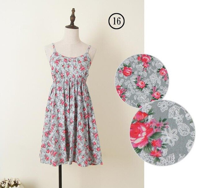 2019 Summer Women Sleeveless  Spaghetti Strap Dress Mori Girls 100% Cotton Vintage Dress Short Beach Dress 60 Patterns Plus Size