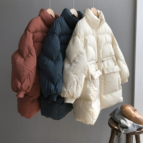 2019 Winter Parkas Women Oversize Long Coat Thick Warm Cotton-padded Clothes Korean Woman Puffer Jacket