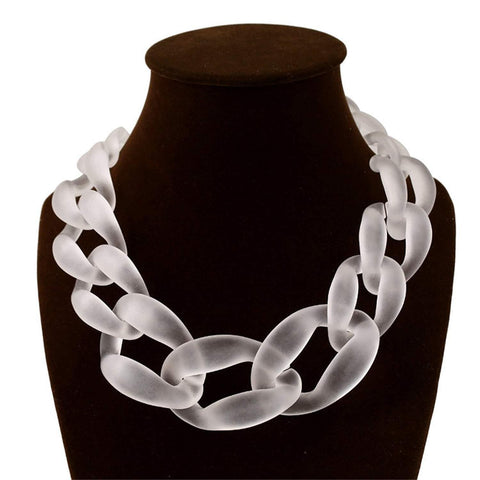2019 Winter Trendy Chain Necklace Sweater Necklace Acrylic Choker Necklace