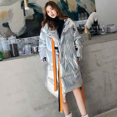 2019 winter new Korean version of the loose straight collar collar down jacket cotton clothing women's clothing