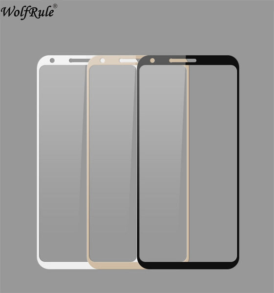 2pcs Screen Protector Glass For LG Q6 Glass 9H Tempered Glass For LG Q6 Full Cover Glass For LG Q6 / Q6 Alpha M700 Film WolfRule