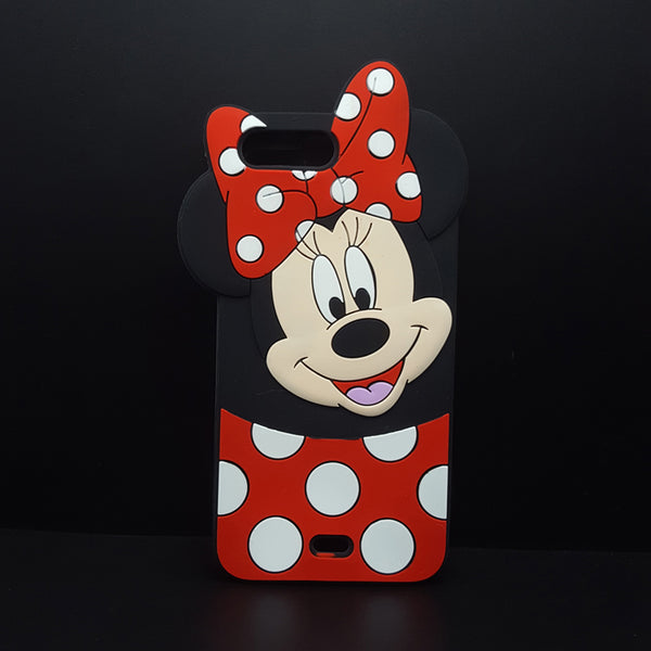 3D Cartoon Mickey Minnie Mouse bow-knot Soft Silicone Cover For iPhone 4/4s/5/5s/SE/6/6s plus/7 plus/8 4.7 5.5 Rubber Phone case
