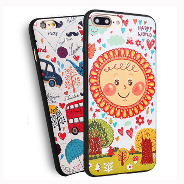 3D Cute Sun flower tpu soft Colorful fashionista coque Cover Case For Apple iPhone 7 7s / 7plus 7 plus 7splus Case Phone Shell