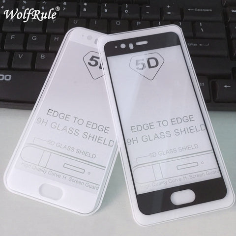 5D Full Glue Coverage Tempered Glass Huawei P10 Screen Protector Phone Film For Huawei P10 Glass Huawei P 10 Full Cover Film