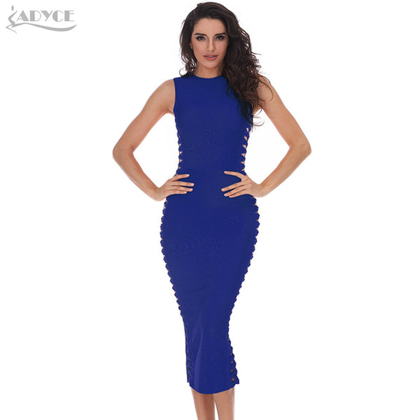 ADYCE 2017 summer dress women sexy Celebrity party dresses bandage dress Runway Bodycon Dress O-Neck hollow out  Club Vestidos
