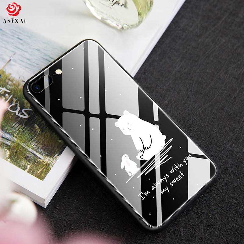 wholesale dealer 45d98 0c34b ASINA Tempered Glass Case For iPhone 6 6S Innovative Cartoon Hard Cover For  iPhone 6S Plus Case Luxury