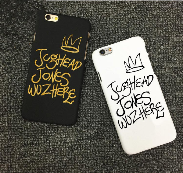American TV Riverdale Jughead Jones Woz Here Gold version Hard Phone Cover Cases For iPhone 5 5S SE 6 6S 6Plus 7 7Plus 8 8Plus X