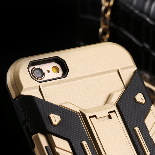 Armor case For iPhone 5 5S SE 6 6S Plus Card Holder Heavy Duty Kickstand Phone Shell Case For iPhone SE 5S 6 6S 7 Plus Cover