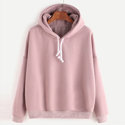 Autumn Sweatshirts Women 2018 Pink Women's Gown With A Hood Hoodies Ladies Long Sleeve Casual Hooded Pullover Clothes Sweatshirt