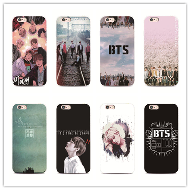 newest 82221 34e1a Bangtan Boys BTS youth phone case for iPhone 7 plus 4 4s 5 5s 5c se 6 6s  iPhone7 for Samsung S5 S4 S6 S7 S7edge 6 s 5 s cover