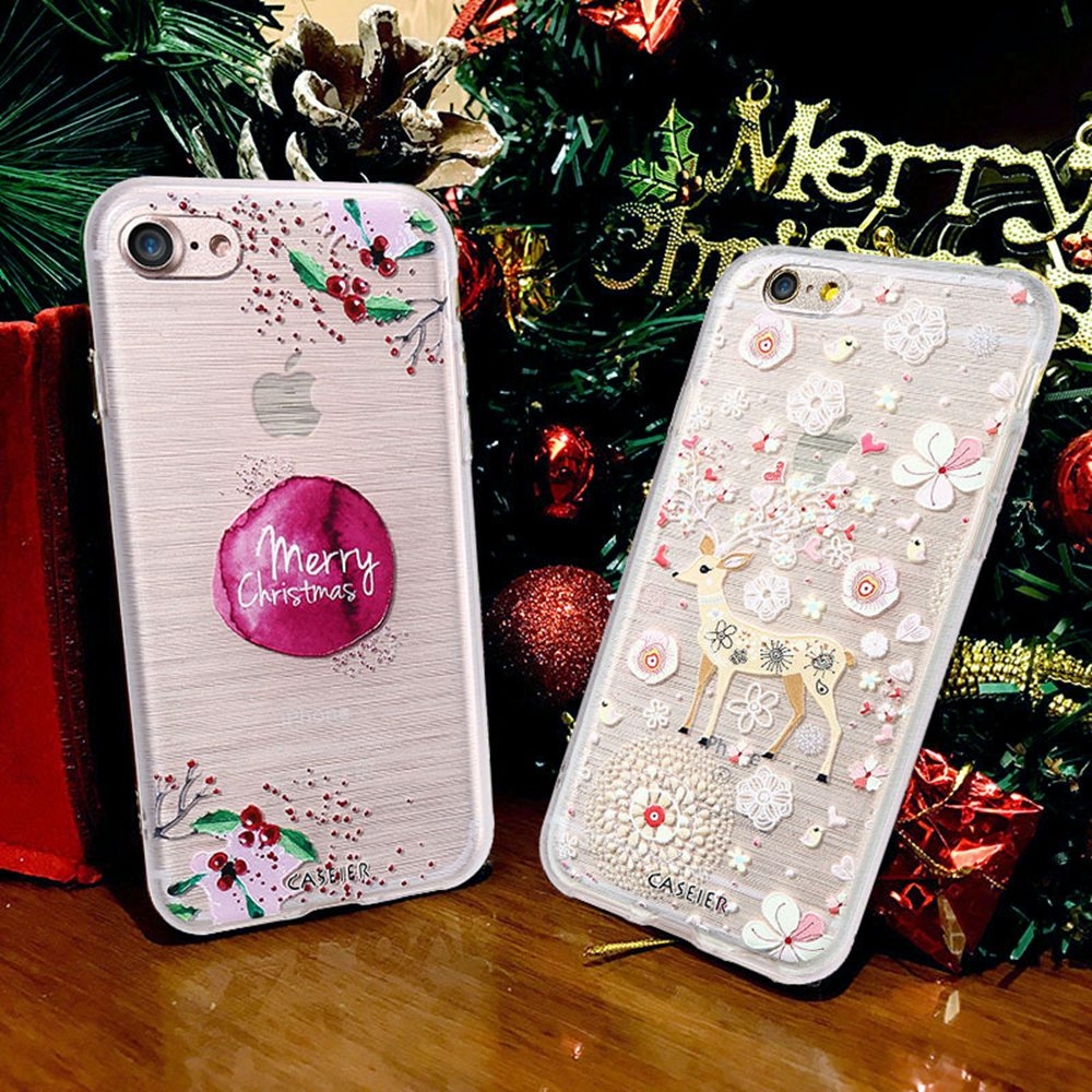 Cute Christmas.Caseier For Iphone X 5 5s Se Case Soft Silicone Tpu Cases Cute Christmas Painting For Iphone X 5 5s Se Winter Cover Accessories