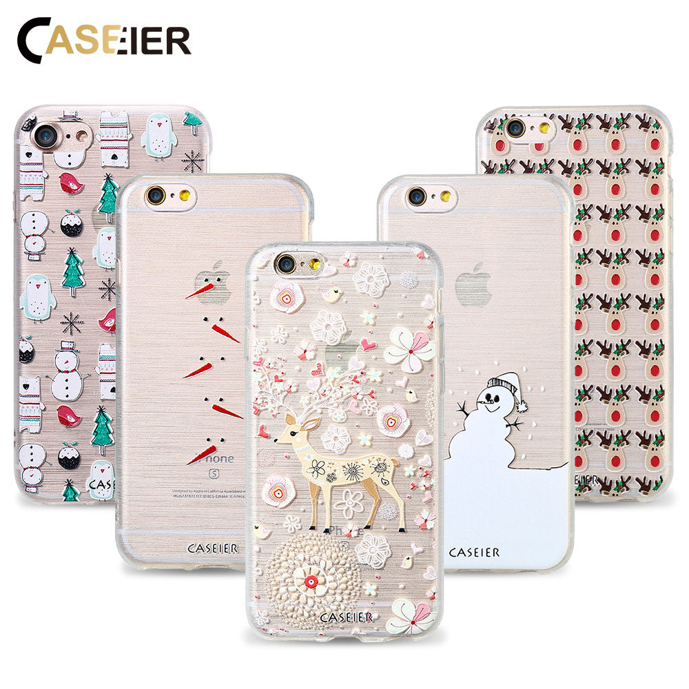 CASEIER Winter Phone Case For iPhone 7 8 Plus Cases Soft TPU ...