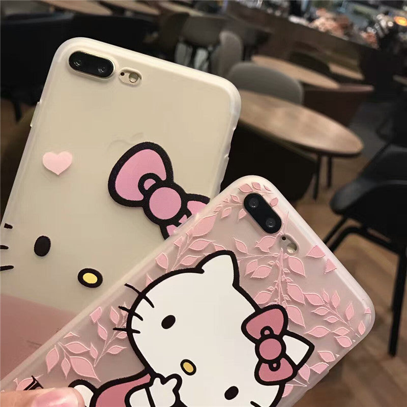 16670970dfbb22 ... Cartoon Cute Hello kitty soft Silicon case for iphone 6s 6 Plus 5s SE  Full Body ...