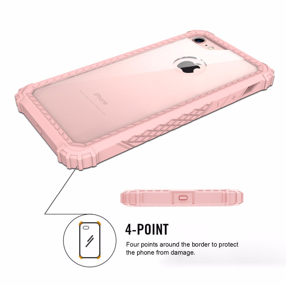 promo code 8eb47 67956 Clear Hard Back Cover For iPhone 7 7 Plus,Strong Guard Protection Series  Case for Apple iPhone 6 7 Plus Sturdy Phone Cases Cute