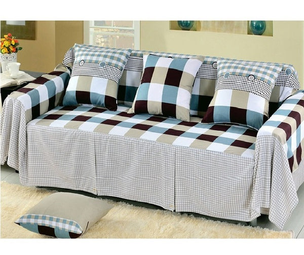 Cotton Sofa Towel Single/Two/Three/Four-Seater Sofa Covers Slip-resistant Couch Cover For Living Room Plaid Sofa Bed Home Decor