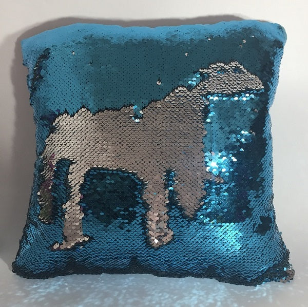 DIY Mermaid Sequin Cushion Cover Magical Pink Throw Pillowcase 40cmX40cm Color Changing Reversible Pillow Case Suede Back