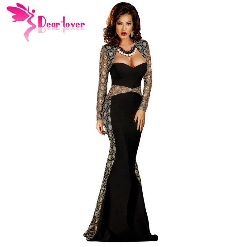 c0316247f8 Dear Lover Formal Gown Special Occasion Autumn 2017 Sexy Lace Mesh Cut –  Intel Retro
