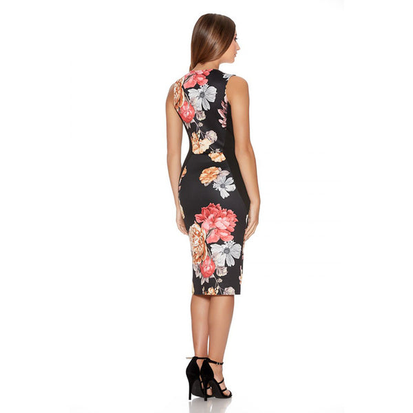 Fantaist Women Summer Dresses Vestidos Vintage Floral Print Cocktail Party Bodycon Pencil Dress, 2017 New Work Wear Clothes