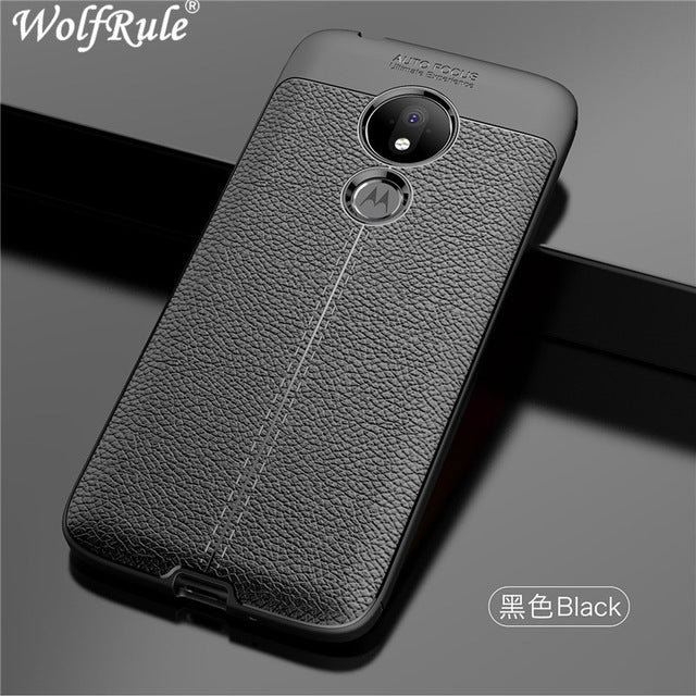 For Phone Case Motorola Moto G7 Power Cover Shockproof For Moto G7 Power Case Luxury Leather Soft TPU For Motorola Moto G7 Power