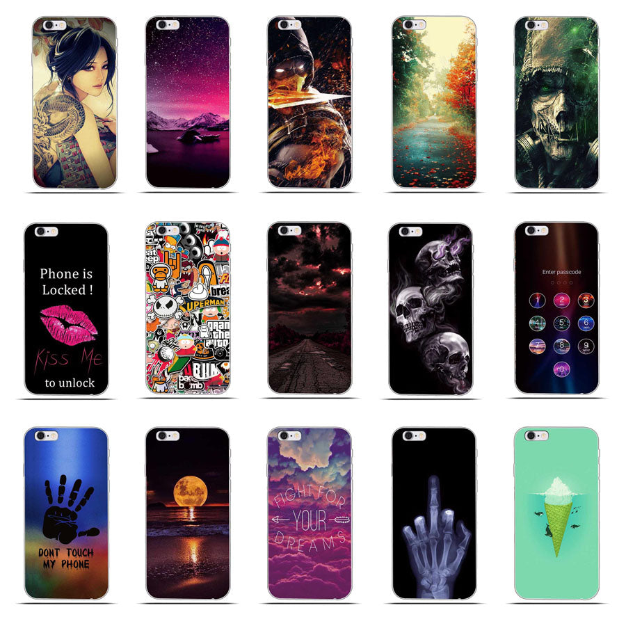 reputable site ca95b 6ac26 For iPhone 5 Cover Soft Silicone Gel Cover Fundas for iPhone 5S SE Cartoon  Phone Cases Protective Case For iPhone 6 plus 7 8plus