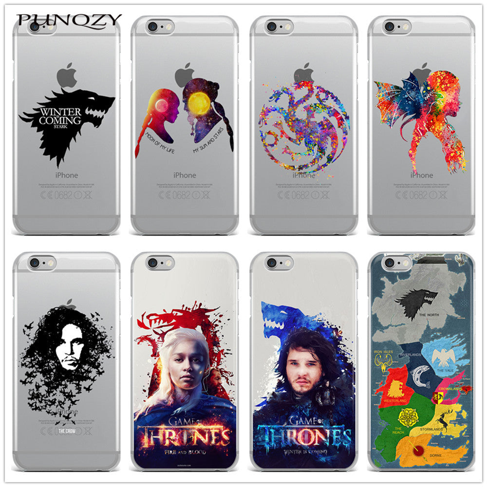 new products d75ef f4e9e Game of Thrones print Transparent Silicone Phone Back Cover Case For iPhone  7 7 Plus 6 6S 6 Plus 6s Plus 5 5S SE 4 5C
