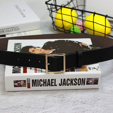 High Quality Women Gold Square Pin Metal Buckle Belts 105x3.3cm New Wide Leather Waist Strap Belt Woman Belts For Jeans