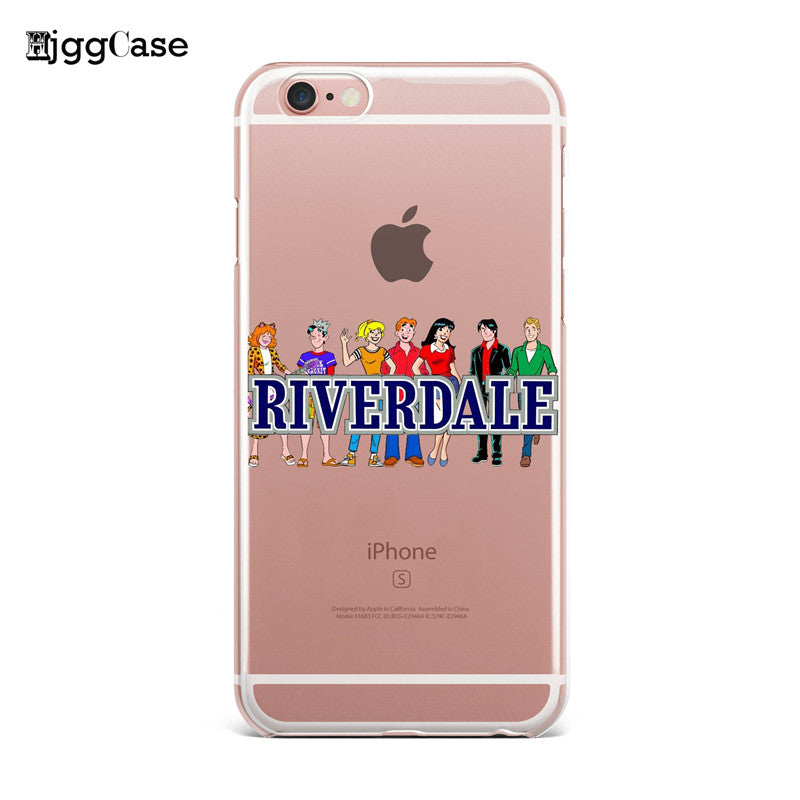 check out 045e1 75767 Hot TV Riverdale Soft Clear TPU Phone Case For iPhone X 8 7 6 6S Plus SE 5  5S Silicone Phone Back Cover For iPhone 8 Cases Coque