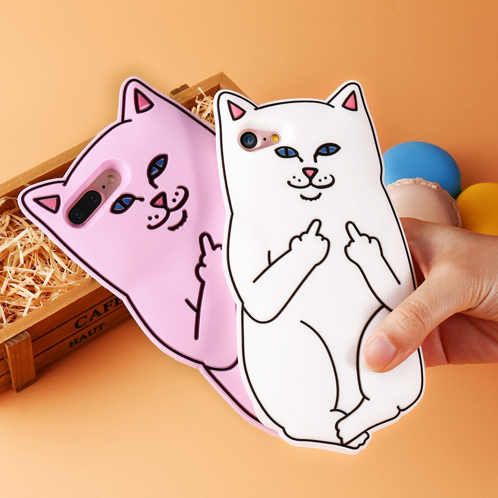 separation shoes adc59 a63a8 KISSCASE 3D Pocket Cat Silicone Case For iPhone 8 7 6 6s Plus Cute Cartoon  Ripndip Phone Cover For iPhone 8 7 6 6s 5 SE Shells