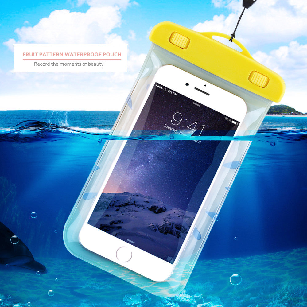 sports shoes 7835f a6c8d KISSCASE Cute Fruit Waterproof Cases for iPhone 6 5 5s 6 7 Plus Soft  Silicone Case for iPhone 7 5.5 Universal Underwater Bags
