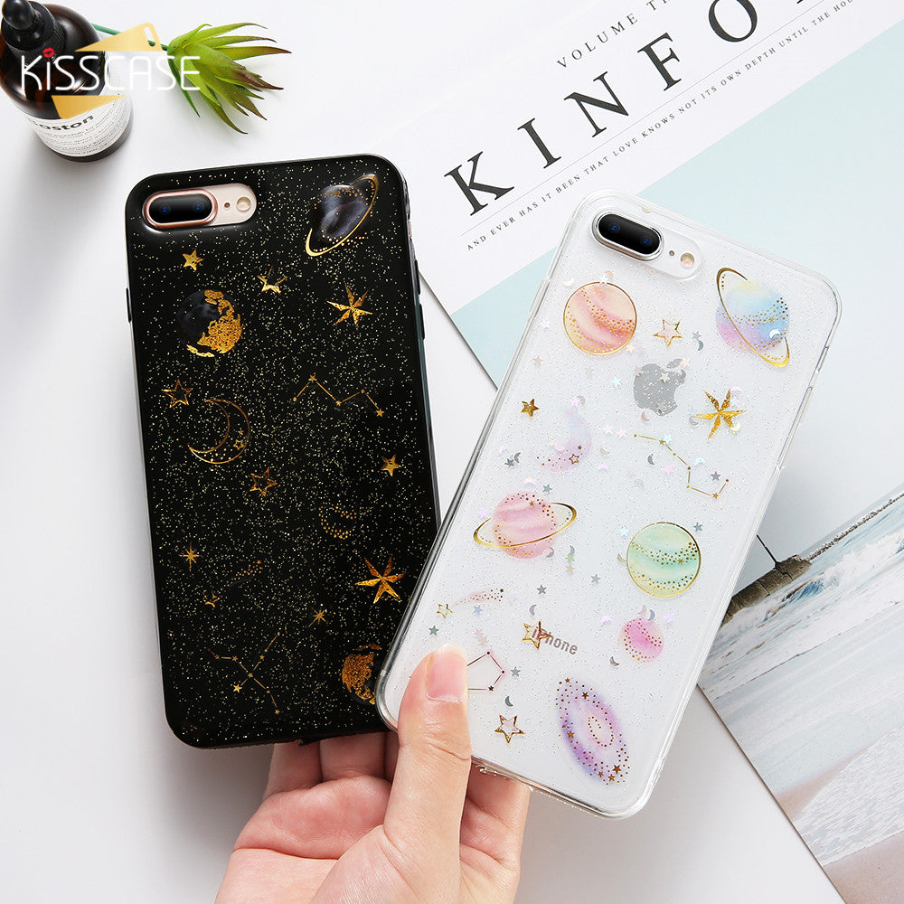 on sale 198b9 4e03f KISSCASE For iPhone 7 7 Plus Case Coque Glitter Cute Luxury Transparent  Pink Bling Paillette Case For iPhone 6 6S 8 Plus Cover