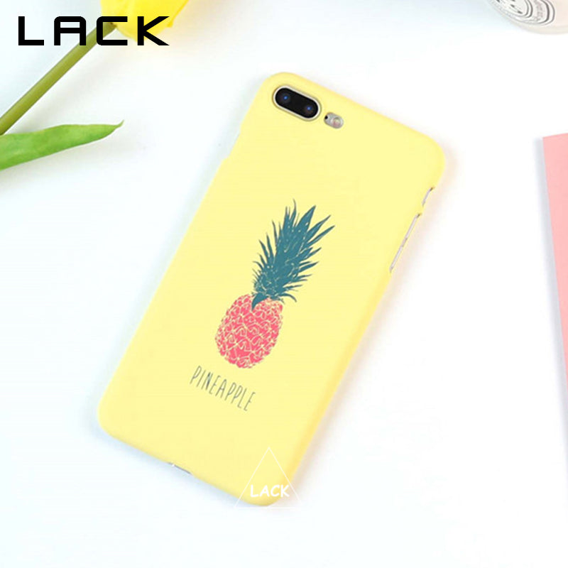 separation shoes 2ad2c 505ce LACK Cartoon Pineapple Phone Case For iphone 5S Case Fashion Hard Ultra  thin Cases Cute Letter Back Cover For iphone 6 6S 7 Plus